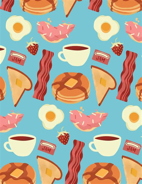 image pattern food food patterns illustration by niki sauter