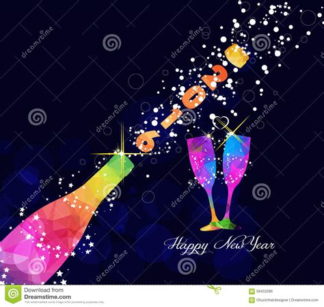 new year design poster happy new year 2016 greeting card or poster design with