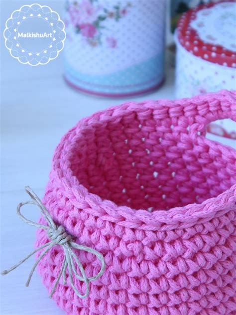 Macrame And Crochet - crochet basket made with phil corde macrame yarn
