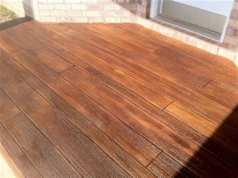 decorative concrete simulated wood deck in pensacola florida