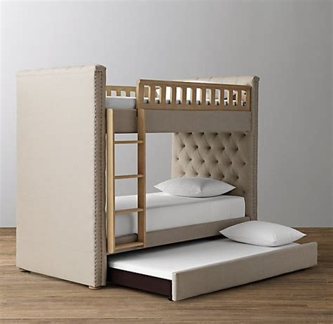 Tufted Bunk Bed Chesterfield Tufted Bunk Bed With Trundle