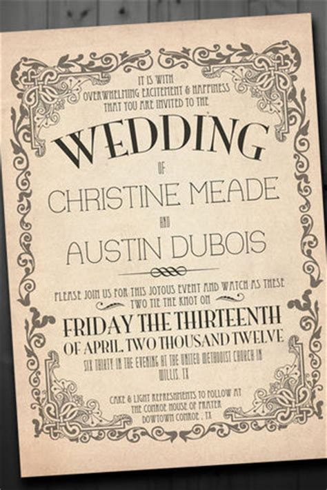21 fabulous vintage wedding invitations - Vintage Wedding Invitations