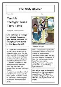 Ks2 Writing Newspaper Reports by Nursery Rhyme Newspapers By Vicbobmac1 Teaching Resources Tes