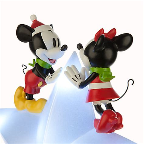 mickey and minnie christmas tree topper disney store mickey and minnie mouse tree topper 2015 light up ebay