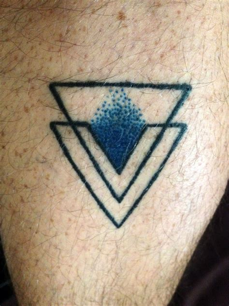 simple triangle tattoo still healing simple triangle gaypride