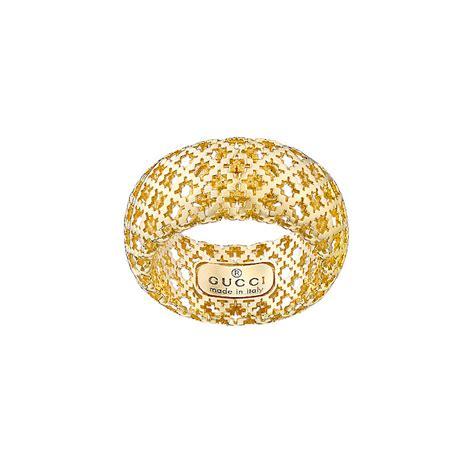 gucci diamantissima 18ct yellow gold ring size m