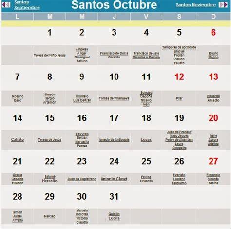 Calendario Con Santoral Calendario Con Santoral 2014 Imagui