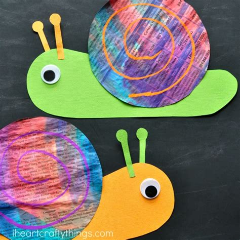 snail crafts for colorful newspaper snail craft i crafty things