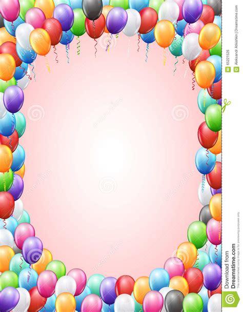 Balloons Header Template Stock Vector Image 65221526