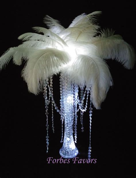 feather centerpieces sale diy charming ostrich feather centerpiece with garland