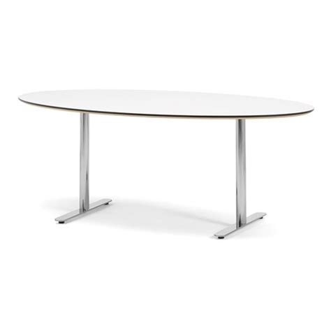 White Oval Meeting Table Oval Conference Table Aj Products