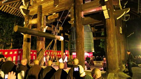new year related japanese ringing the bell at chion in temple kyoto japan on new years 2014