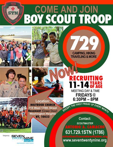 Boy Scout Troop 729 On Behance Boy Scout Flyer Template