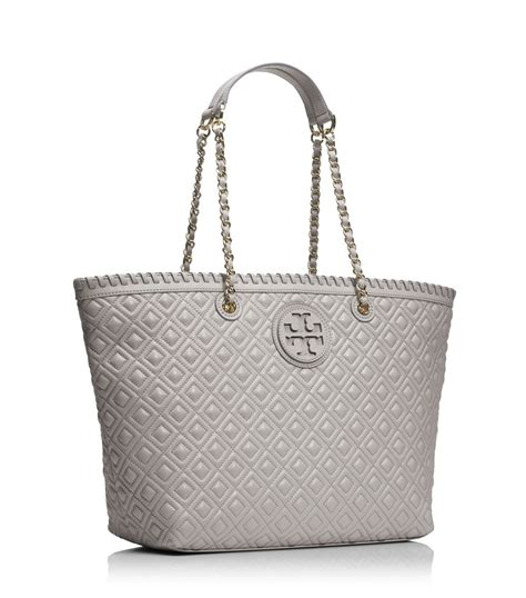 Burch Quilt Small Totepo lyst burch marion quilted small tote in gray