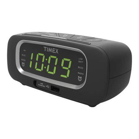 timex fm dual alarm clock radio with usb port walmart