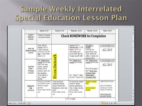 lesson plan template special education ppt beverly s teaching portfolio powerpoint