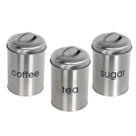 Stainless Kitchen Canisters by Stainless Steel Canister Set Dream Kitchen Pinterest