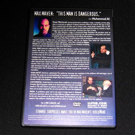 Dvd Sulap 2017 Kayfabe By Max Maven 4 Volume Set max maven s videomind vols 1 3 dvd by max maven