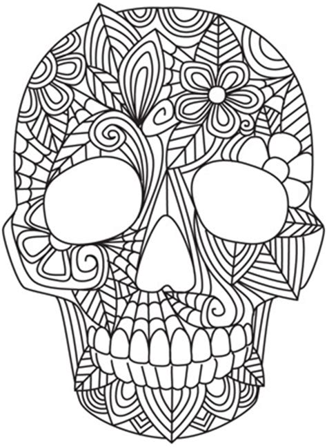 coloring pages of tribal pattern blooming skull urban threads unique and awesome