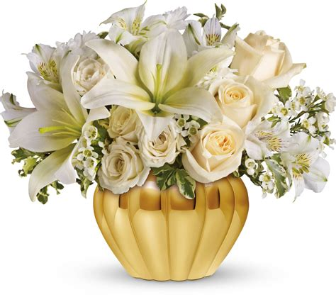 teleflora s touch of gold for the in laws 50th wedding anniversary family