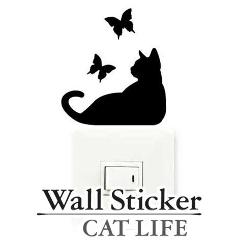 Sticker Wallpaper Dinding Imagination Cat livingut rakuten global market wall sticker wallpaper sticker cat butterfly cat the