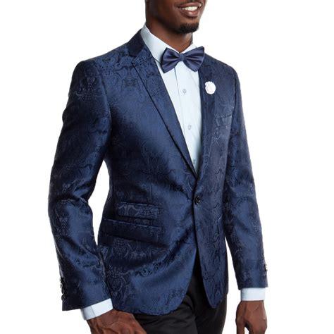 blue pattern men s suit blue blazer with fancy floral pattern slim fit prom