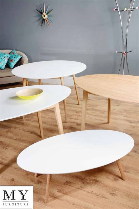 top 25 best oak coffee tretton retro solid oak or lacquered white oval