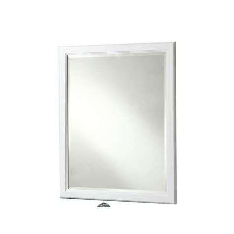 36 x 30 mirror for bathroom shop style selections vanover 36 in h x 30 in w white