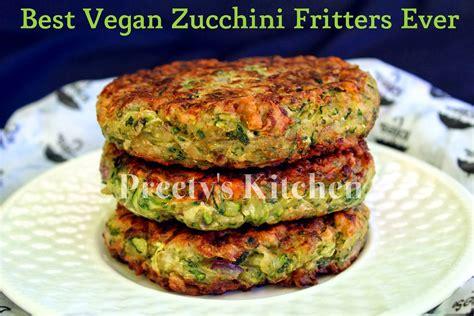 vegan recipe preety s kitchen best vegan zucchini fritters