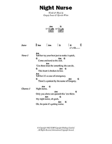 lyrics gregory sheet by gregory isaacs lyrics chords