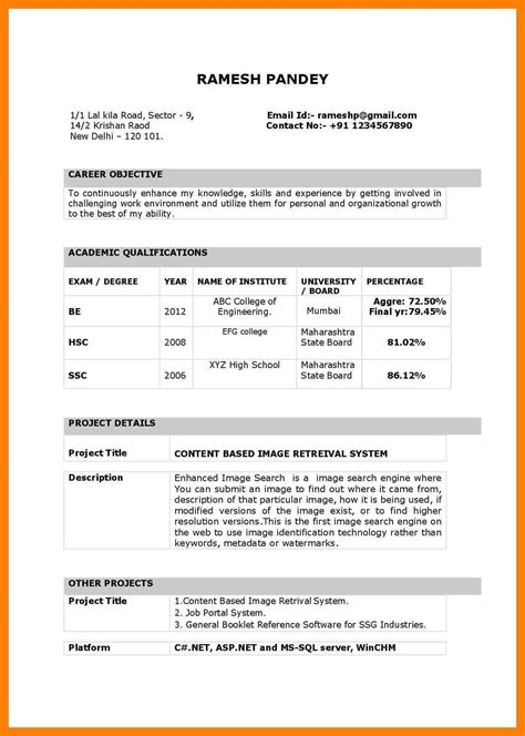 10 resume format in word lease template