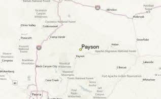 map of payson arizona payson weather station record historical weather for