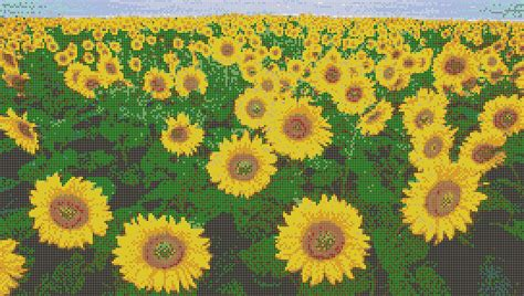 Turquoise And Brown Bedroom Sunflower Fields Mosaic Tile Art