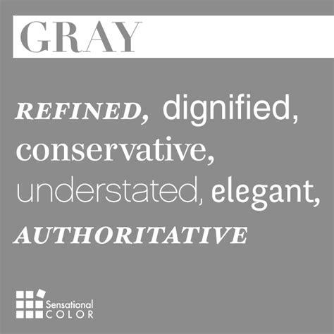 words  describe gray sensational color
