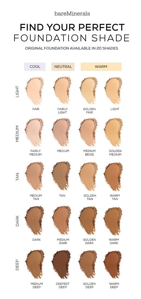 bare minerals foundation colors foundation foundation and shades on