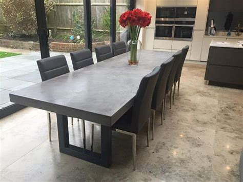 concrete dining room table 17 best ideas about concrete dining table on