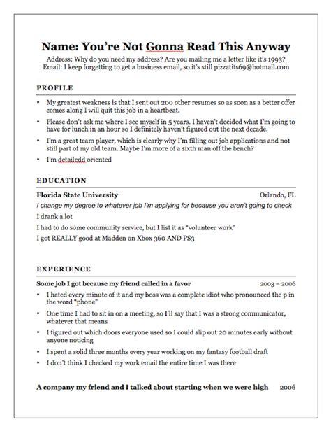 your honest resume mandatory