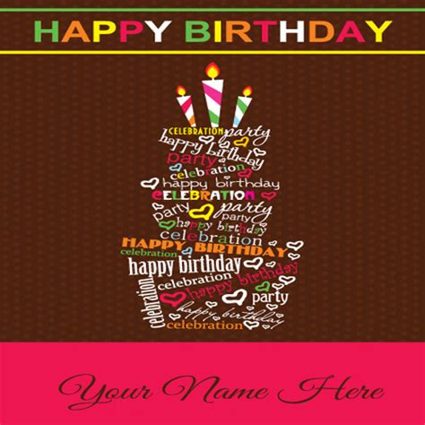 Write Happy Birthday Card Write Your Name On Sweet Birthday Cards For Friends