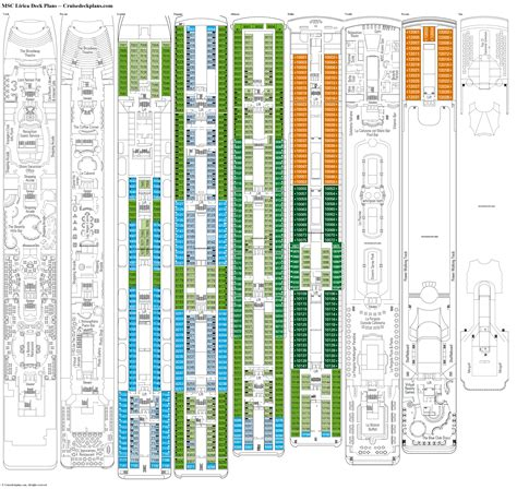 msc lirica cabine pin msc lirica deck plan cruise myholiday on