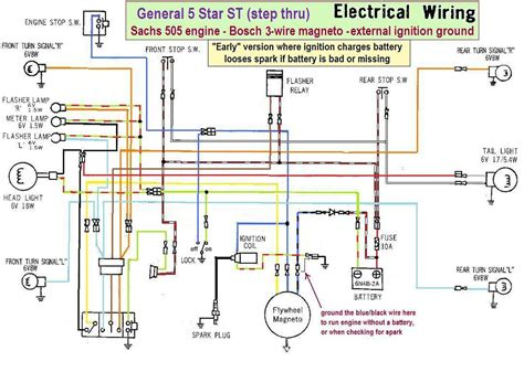 early electrical wiring wiring diagrams 171 myrons mopeds