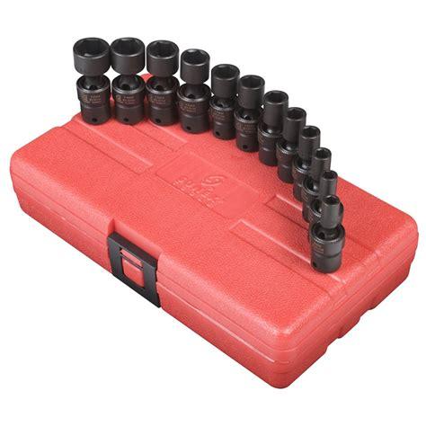 Mata Sock Wall 12 6 Pt 12mm Tekiro Original Tools sunex 1814 1 4 drive 6 point swivel universal flex metric impact socket set 12