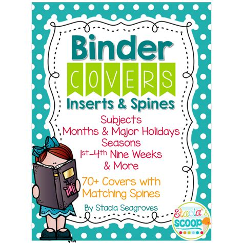best photos of editable binder covers and spines student