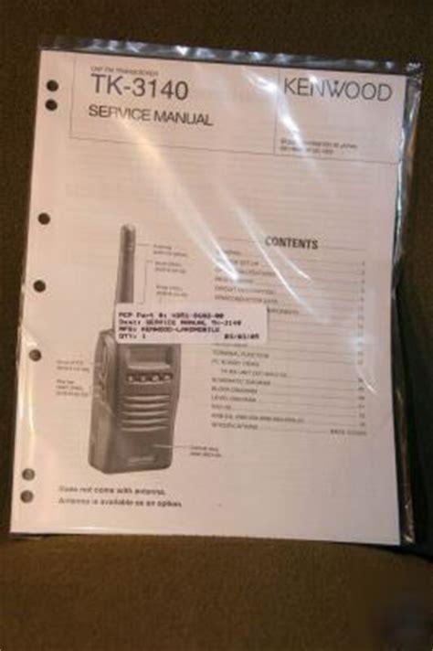 New Brand Kenwood Tk 3140 Service Manual