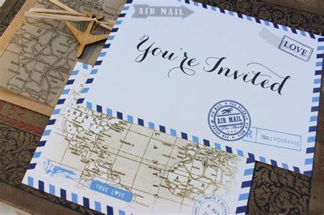 Wedding Invitations Travel Theme by Wedding Wanderlust 21 Top Travel Theme Wedding Ideas