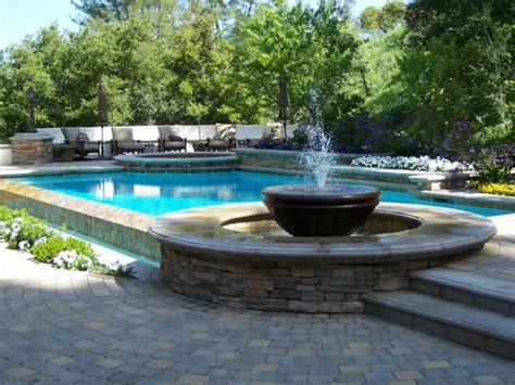 pool fountain ideas swimming pool features hgtv