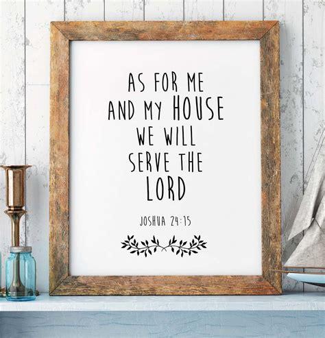 scripture wall art home decor bible verse print 8x10 joshua 24 15 bible verses