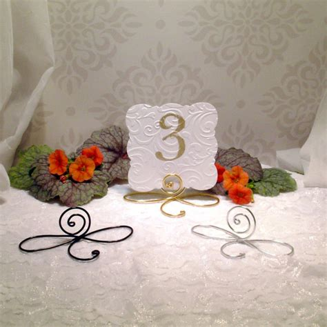 silver wedding table number holders 25 large wire infinity bow table number holders black