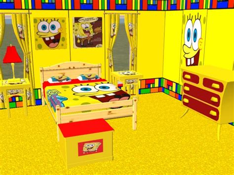spongebob bedroom mod the sims complete spongebob bedroom set