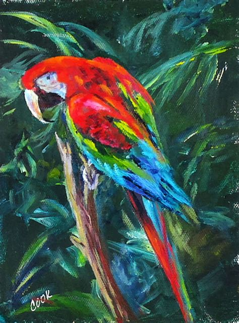 advanced painting colorful parrot live lesson from acrylic