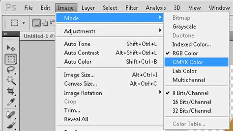 color mode set cmyk colors in photoshop graphic design stack exchange